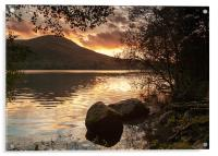 Loweswater Sunset, Acrylic Print