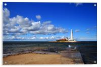 Late afternoon at the Lighthouse, Acrylic Print