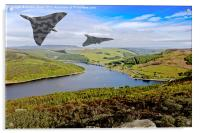 Vee Force over the Valley, Acrylic Print