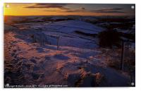 Sunset from Ringinglow, Acrylic Print