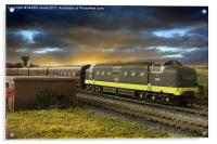 Ex Works Deltic on Test, Acrylic Print