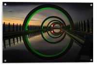 Green at the Falkirk Wheel, Acrylic Print