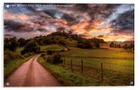 A North Yorkshire Sunset, Acrylic Print