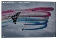 The Red Arrows fly with Avro Vulcan XH558, Acrylic Print
