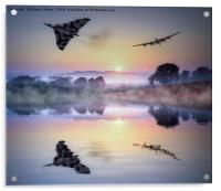 Icons of British Aviation Fly Together, Acrylic Print