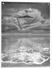 Vulcan XH558 with the RAF Red Arrows, Acrylic Print