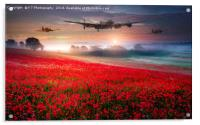 Lancaster,Spitfire and Hurricane - Poppy Flypast, Acrylic Print
