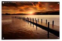 Last Light over Coniston Water, Acrylic Print