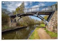 Brown Baley Bridge, Tinsley Canal, Sheffield, Acrylic Print