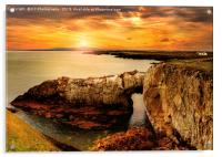 The Rhoscolyn Arch, Anglesey., Acrylic Print