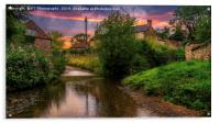 The Ford at Thirlby, North Yorkshire., Acrylic Print