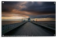 Clevedon Pier at Sunset, Acrylic Print