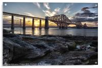 Forth Bridge Sunset, Acrylic Print