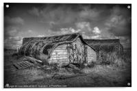 Fisherman's Hut in Mono., Acrylic Print