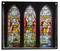 St Conan's Stained Glass, Acrylic Print