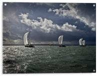 Yachts racing into the light, Acrylic Print