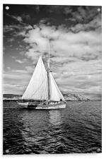 Traditional boat, Coll, Acrylic Print