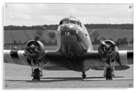 BBMF Dakota Kwicherbichen black and white, Acrylic Print