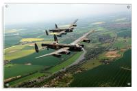 Two Lancasters over the upper Thames, Acrylic Print