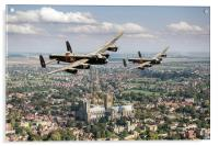 Two Lancasters over Lincoln Cathedral, Acrylic Print