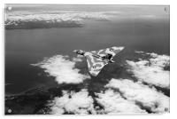 Vulcan over South Wales black and white version, Acrylic Print