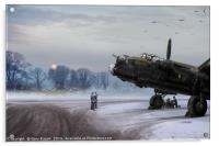 Time to go: Lancasters on dispersal, Acrylic Print