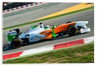 Adrian Sutil - Force India 2011, Acrylic Print