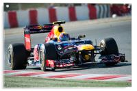 Mark Webber 2012 Spain, Acrylic Print