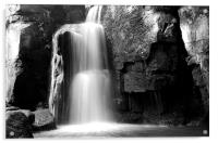 Lumsdale Waterfall, Derbyshire, Acrylic Print