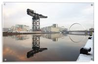 Glagow River Clyde reflections, Acrylic Print