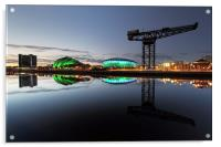 Glasgow River Clyde Waterfront, Acrylic Print