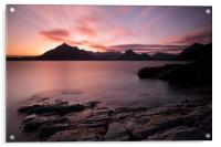 Elgol Colourful Sunset, Acrylic Print