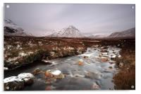 Allt nan Giubhas and the peak of Stob Dearg, Acrylic Print