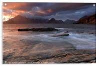 Overcast Cuillins at Sunset, Acrylic Print