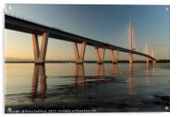 Queensferry Crossing at Sunset, Acrylic Print