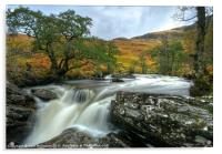 Waterfall in the Scottish Highlands, Acrylic Print