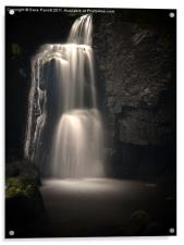 Lumsdale Valley Top Waterfall, Acrylic Print