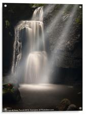 Lumsdale Valley Waterfall - Love, Acrylic Print