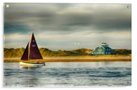 SAILING AT BLAKENEY POINT, Acrylic Print
