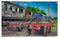 The Train Graveyard, Acrylic Print