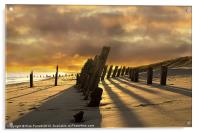 Sunset at Spurn Point, Acrylic Print
