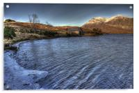 Boat House on an Icy Loch, Acrylic Print