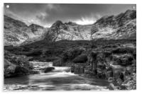 The Fairy Pools and Cuillins Isle of Skye, Acrylic Print