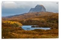 Suilven in Autumn, Acrylic Print