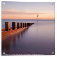 Portobello sea defences, Acrylic Print