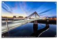 Squiggly Bridge Glasgow, Acrylic Print