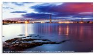 Forth Road Bridge at Dusk, Acrylic Print