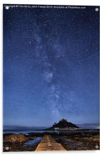 The mount and the milkyway, Acrylic Print