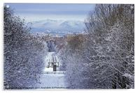 Winter view over to Arran, Acrylic Print