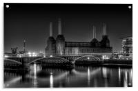 Battersea black and white, Acrylic Print